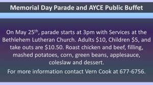 Memorial Day Parade and AYCE Public Buffet