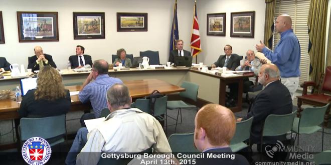 Gettysburg Borough Council – April 13th 2015